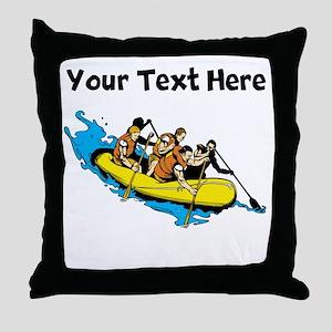 White Water Rafting Throw Pillow