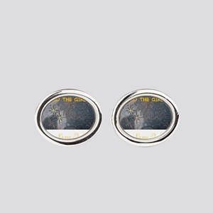 FIND THE GIRL. HER NAME IS KISSY. Oval Cufflinks