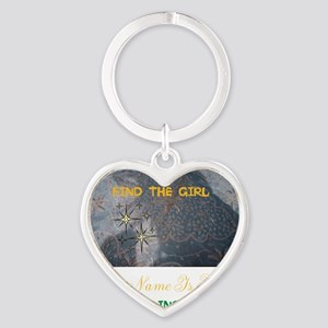 FIND THE GIRL. HER NAME IS KISSY. Heart Keychain