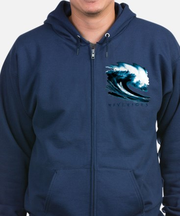 Surfer Slang: Mavericks Zip Hoodie (dark)