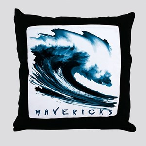 Surfer Slang: Mavericks Throw Pillow