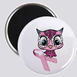 Breast Cancer Owl Magnets
