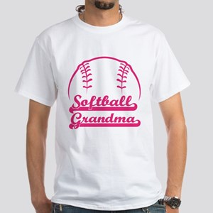 SOFTBALL GRANDMA White T-Shirt