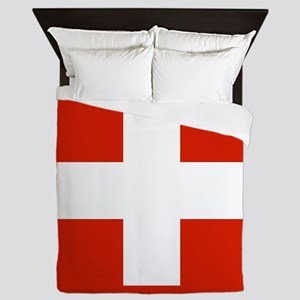 modern Switzerland Flag Queen Duvet