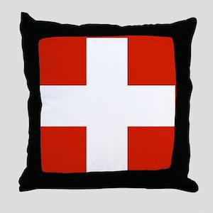 modern Switzerland Flag Throw Pillow