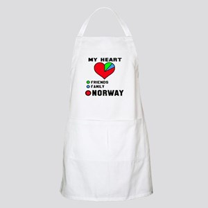My Heart Friends, Family and Norway Light Apron