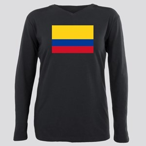 Falg of Colombia Plus Size Long Sleeve Tee