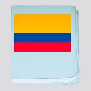 Falg of Colombia baby blanket