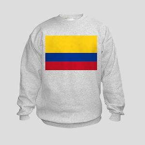Falg of Colombia Kids Sweatshirt