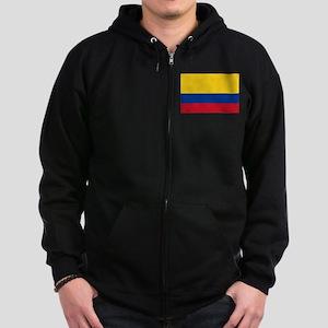 Falg of Colombia Zip Hoodie (dark)