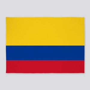 Falg of Colombia 5'x7'Area Rug