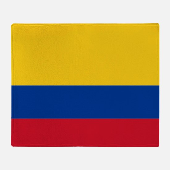 Falg of Colombia Throw Blanket