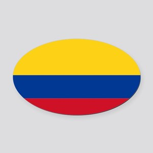 Falg of Colombia Oval Car Magnet