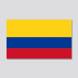 Falg of Colombia Car Magnet 20 x 12