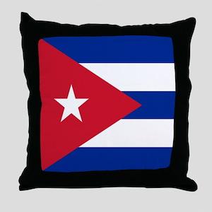 cuban flag Throw Pillow