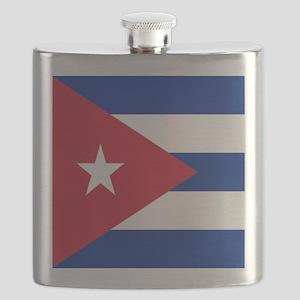cuban flag Flask