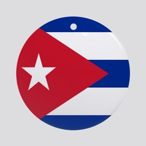 cuban flag Round Ornament