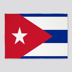 cuban flag 5'x7'Area Rug