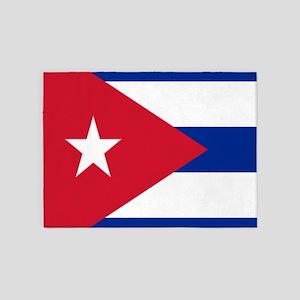 cuban flag 5'x7'Area Rug