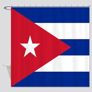 cuban flag Shower Curtain