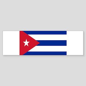 cuban flag Bumper Sticker