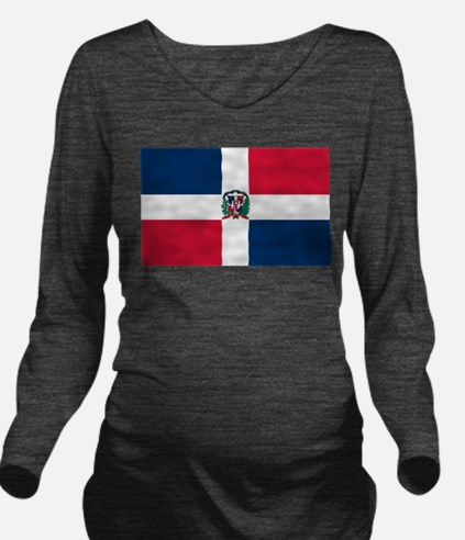 Dominican Republic Long Sleeve Maternity T-Shirt