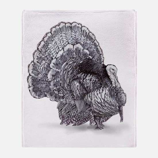 Cute Wild turkey Throw Blanket