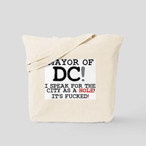 CITY AS A HOLE - ITS FUCKED - WASHINGTON Tote Bag