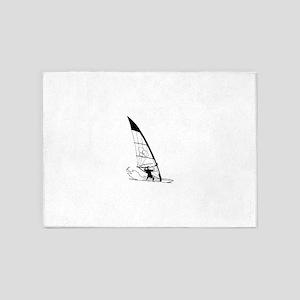 Windsurfing 5'x7'Area Rug