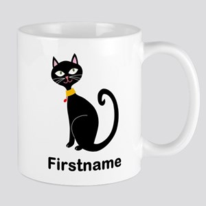 Black Cat (p) Mugs