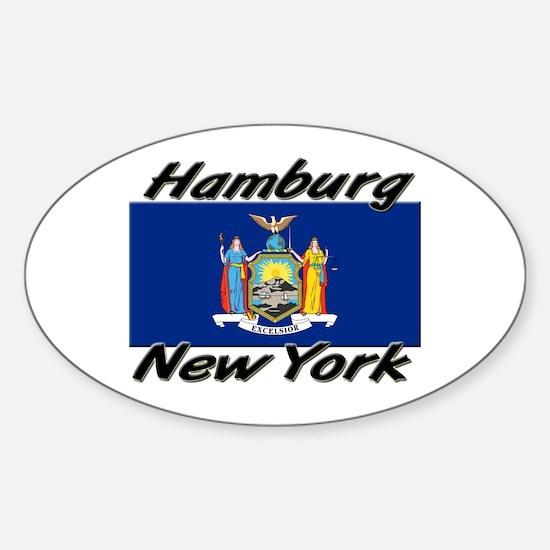 Hamburg New York Oval Decal