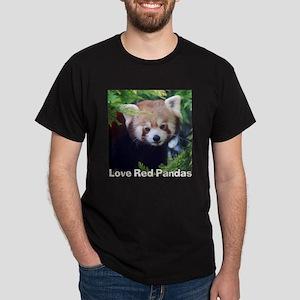 Love Red Pandas Dark T-Shirt