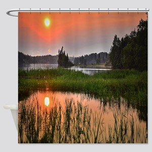 Country Sunset Shower Curtain