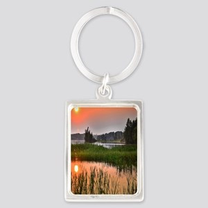 Country Sunset Portrait Keychain
