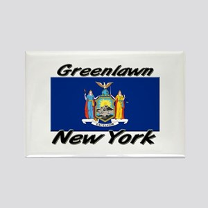 Greenlawn New York Rectangle Magnet
