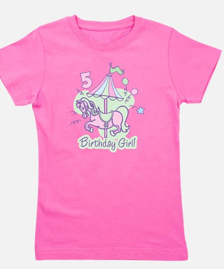 Carousel 5th Birthday Girl's Tee