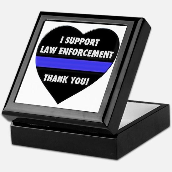 I Support Law Enforcement Keepsake Box
