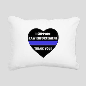 I Support Law Enforcement Rectangular Canvas Pillo