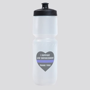 I Support Law Enforcement Sports Bottle