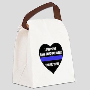 I Support Law Enforcement Canvas Lunch Bag