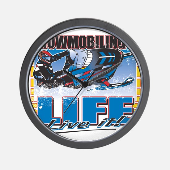 SNOWMOBILING-IS-LIFE-.png Wall Clock