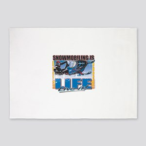 SNOWMOBILING-IS-LIFE- 5'x7'Area Rug