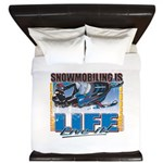 SNOWMOBILING-IS-LIFE- King Duvet
