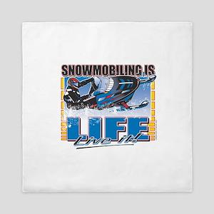 Snowmobiling-Is-Life- Queen Duvet