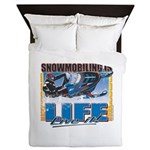 Snowmobiling-Is-Life- Queen Duvet