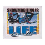 Snowmobiling-Is-Life- Throw Blanket