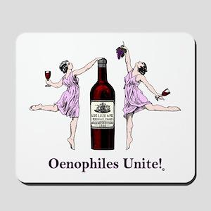 Oenophiles Unite! Mousepad