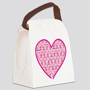 Cancer-Heart Canvas Lunch Bag