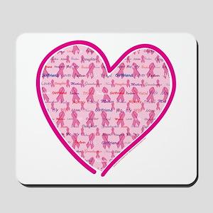 Lets Cure Cancer Heart Mousepad