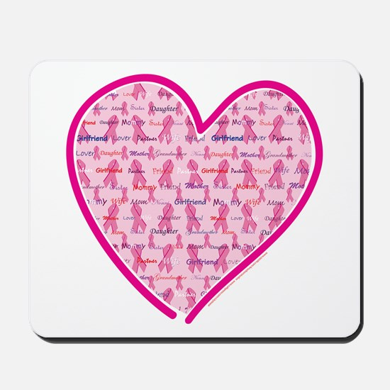 Lets Cure Cancer Heart Mousepad
